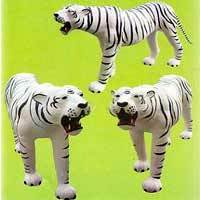 Stuffed Leather White Tiger
