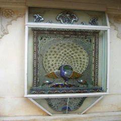 Glass Peacock Design