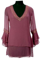 Georgette Embroidered Top