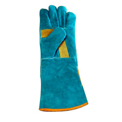 Safety Gloves Full Fingered Leather Hand Gloves, Size: Free Size