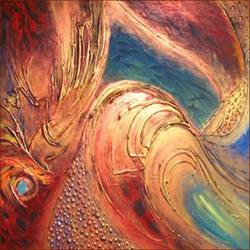 Abstract Hand Paintings - Semi Abstract Oil Painting Service ...