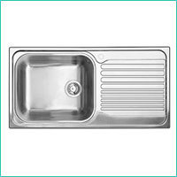 single bowl kitchen sink single kitchen sink with drainboard exporter from new delhi - Kitchen Single Sink