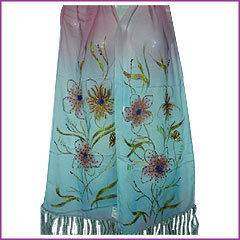 Silk Stoles with Embroidery