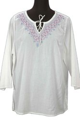 Cotton Embroidered Kurti Top