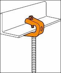 "45 CADDY CAT1258 J Hook CABLE CLIP 3//4"" Diameter 5//16"" 1//2"" Flange"