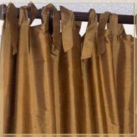 Tie Top Silk Curtains