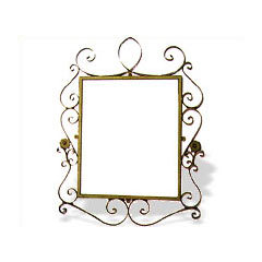 wrought iron mirror frames - Wrought Iron Picture Frames