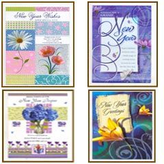 New year greeting card at best price in india new year cards m4hsunfo